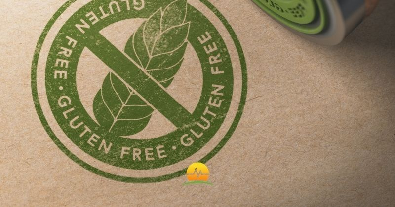 Gluten free stamp in green on brown package paper. Is a gluten free good for weight loss? Memorial Advanced Surgery logo in corner.